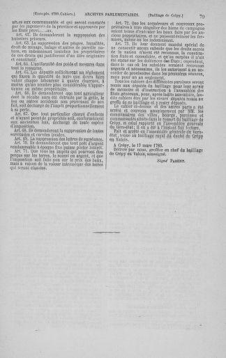 Tome 3 : 1789 – États généraux. Cahiers des sénéchaussées et baillages [Colmar et Schelestadt - Metz] - page 79