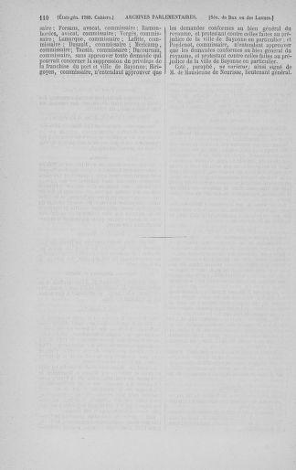 Tome 3 : 1789 – États généraux. Cahiers des sénéchaussées et baillages [Colmar et Schelestadt - Metz] - page 110