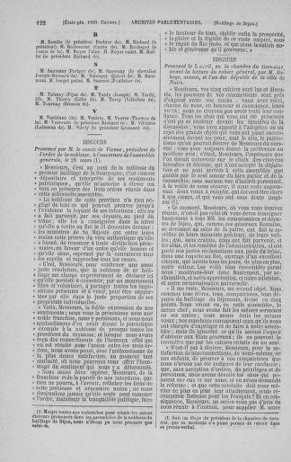 Tome 3 : 1789 – États généraux. Cahiers des sénéchaussées et baillages [Colmar et Schelestadt - Metz] - page 122