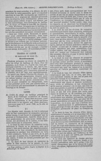 Tome 3 : 1789 – États généraux. Cahiers des sénéchaussées et baillages [Colmar et Schelestadt - Metz] - page 123