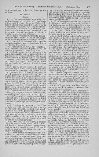 Tome 3 : 1789 – États généraux. Cahiers des sénéchaussées et baillages [Colmar et Schelestadt - Metz] - page 137