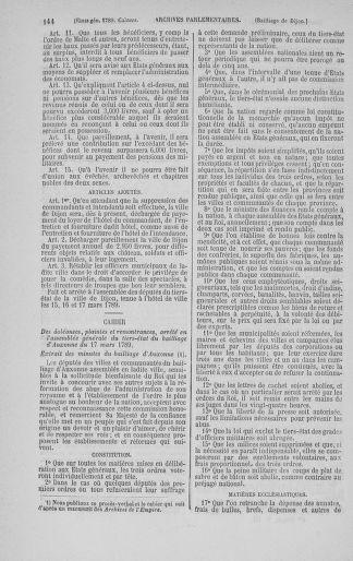 Tome 3 : 1789 – États généraux. Cahiers des sénéchaussées et baillages [Colmar et Schelestadt - Metz] - page 144