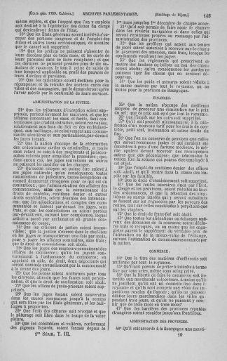 Tome 3 : 1789 – États généraux. Cahiers des sénéchaussées et baillages [Colmar et Schelestadt - Metz] - page 145