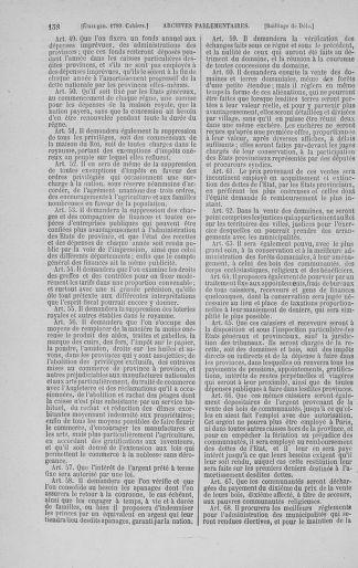 Tome 3 : 1789 – États généraux. Cahiers des sénéchaussées et baillages [Colmar et Schelestadt - Metz] - page 158