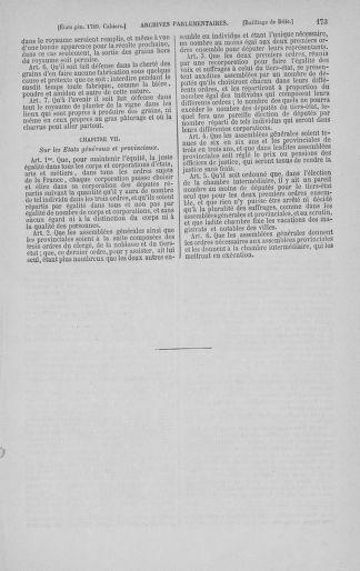 Tome 3 : 1789 – États généraux. Cahiers des sénéchaussées et baillages [Colmar et Schelestadt - Metz] - page 173
