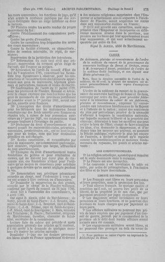 Tome 3 : 1789 – États généraux. Cahiers des sénéchaussées et baillages [Colmar et Schelestadt - Metz] - page 175