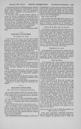 Tome 3 : 1789 – États généraux. Cahiers des sénéchaussées et baillages [Colmar et Schelestadt - Metz] - page 269