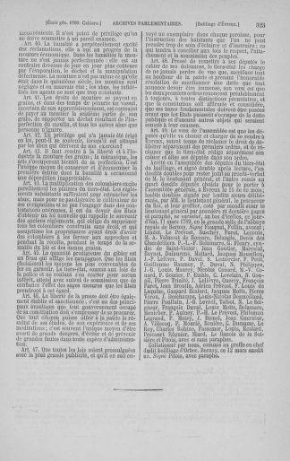 Tome 3 : 1789 – États généraux. Cahiers des sénéchaussées et baillages [Colmar et Schelestadt - Metz] - page 323
