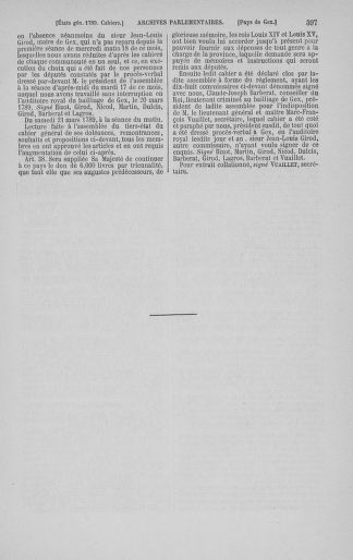 Tome 3 : 1789 – États généraux. Cahiers des sénéchaussées et baillages [Colmar et Schelestadt - Metz] - page 397