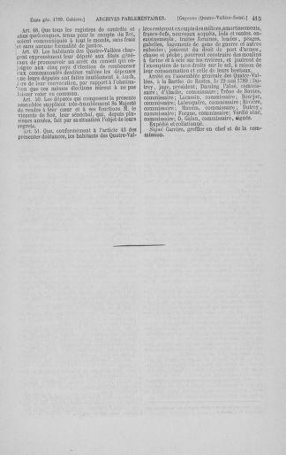 Tome 3 : 1789 – États généraux. Cahiers des sénéchaussées et baillages [Colmar et Schelestadt - Metz] - page 415