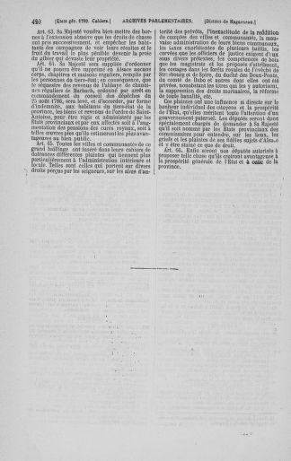 Tome 3 : 1789 – États généraux. Cahiers des sénéchaussées et baillages [Colmar et Schelestadt - Metz] - page 420