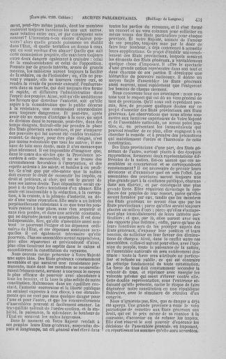 Tome 3 : 1789 – États généraux. Cahiers des sénéchaussées et baillages [Colmar et Schelestadt - Metz] - page 431