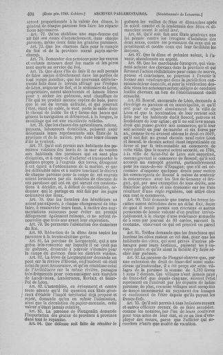 Tome 3 : 1789 – États généraux. Cahiers des sénéchaussées et baillages [Colmar et Schelestadt - Metz] - page 498