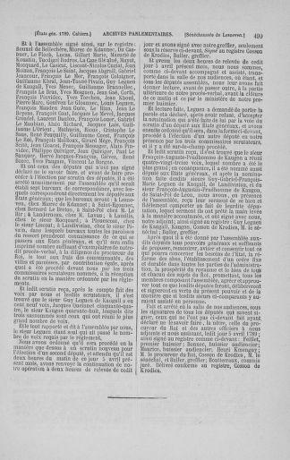 Tome 3 : 1789 – États généraux. Cahiers des sénéchaussées et baillages [Colmar et Schelestadt - Metz] - page 499