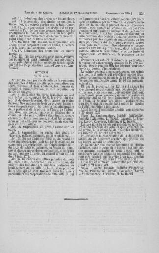 Tome 3 : 1789 – États généraux. Cahiers des sénéchaussées et baillages [Colmar et Schelestadt - Metz] - page 535