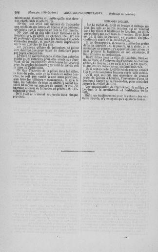 Tome 3 : 1789 – États généraux. Cahiers des sénéchaussées et baillages [Colmar et Schelestadt - Metz] - page 598