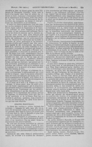 Tome 3 : 1789 – États généraux. Cahiers des sénéchaussées et baillages [Colmar et Schelestadt - Metz] - page 699