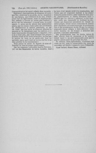 Tome 3 : 1789 – États généraux. Cahiers des sénéchaussées et baillages [Colmar et Schelestadt - Metz] - page 720
