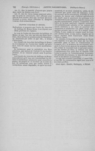 Tome 3 : 1789 – États généraux. Cahiers des sénéchaussées et baillages [Colmar et Schelestadt - Metz] - page 732