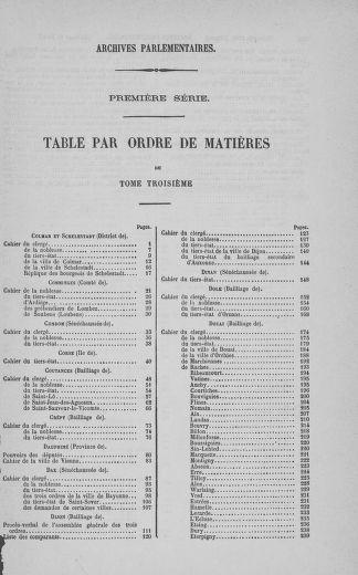 Tome 3 : 1789 – États généraux. Cahiers des sénéchaussées et baillages [Colmar et Schelestadt - Metz] - page 797
