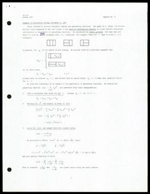 CS 155 1974 - Handout No. 8