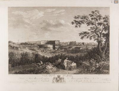 Vue du Colissé de Rome Prise de la Villa Casali
