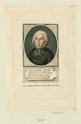 M. L'abbé Seyès député de Paris <em>à</em> l'Assemblée nationale... : [estampe]