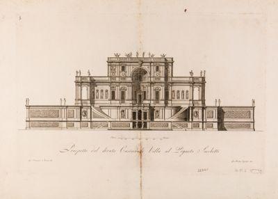 Villa Sacchetti. Casino, prospetto