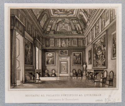 Palazzo del Quirinale. Interno, anticamera detta di Bussolanti