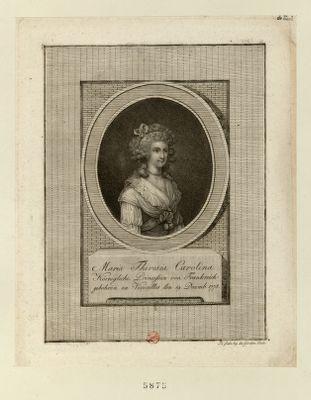 Maria Theresia Carolina köenigliche Princessin von Frankreich gebohren zu Versailles den 19 Decemb. 1778 : [estampe]