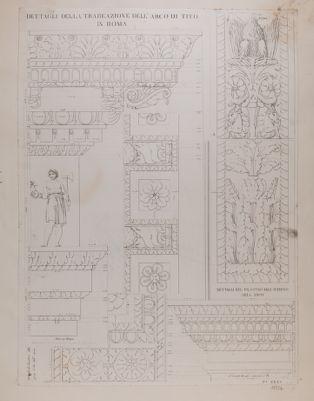 Arco di Tito, dettagli architettonici e ornamenti