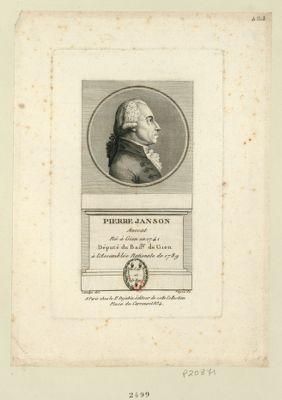 Pierre Janson : avocat né à Gien en 1741 député du bail.ge de Gien à l'Assemblée nationale de 1789 : [estampe]
