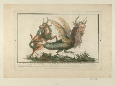 Monstre qui <em>a</em> été pris dans le Lac de Fagua, au Royaume de S.ta Fé [estampe]