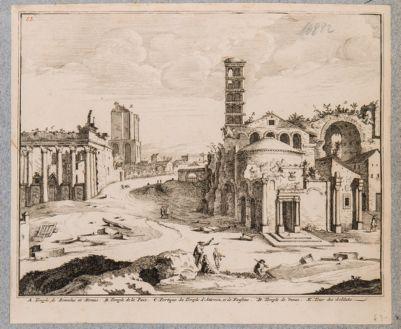 Tempio di Antonino e Faustina, prospetto colonnato