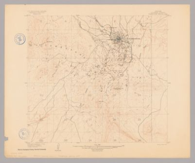 1956 Map of Tucson Arizona, home of the University of