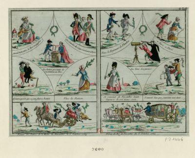 Retour <em>des</em> dames <em>de</em> la Halle <em>de</em> Versailles <em>le</em> 6 <em>octobre</em> <em>1789</em> Retour <em>du</em> roi <em>de</em> Versailles <em>du</em> 6 <em>octobre</em> <em>1789</em>... : [estampe]