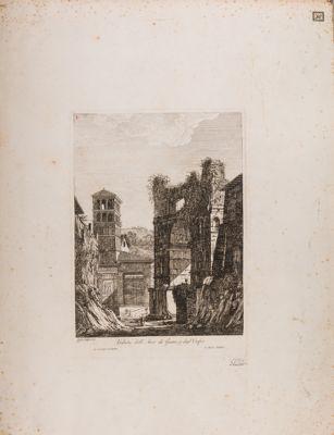 Velabro, veduta del Giano, dell'Arco degli Argentieri e Chiesa di San Giorgio