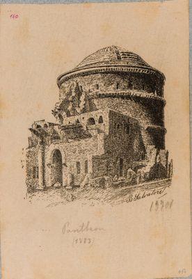 Pantheon, parte posteriore