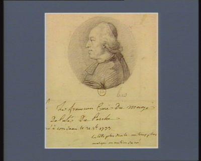Le  François curé du Mage député du Perche né à Condeau le 31 8.bre 1733 : [dessin]