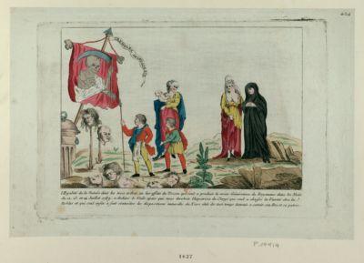L' Egalité de la nature dans les trois ordres, ou les effets du tocsin qui seul a produit la vraie génération du royaume dans les nuits du 12. 13. et 14 juillet 1789 [estampe]