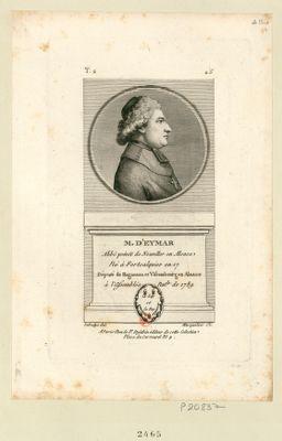M. d'Eymar abbé prévôt de Neuviller en Alsace né à Fortcalquier en 17[..] député de Hagueneau et Vissembourg en Alsace à l'Assemblée nat.le de 1789 : [estampe]