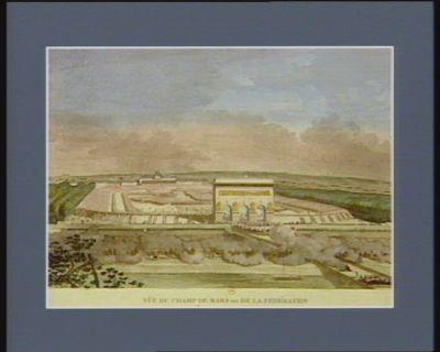 Vüe du Champ de Mars dit de la Fédération au moment de la prestation du serment civique le 14 juillet 1790 [estampe]
