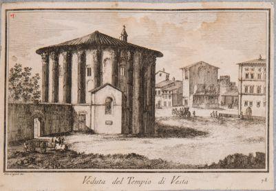 Foro Boario. Tempio di Vesta e arco adiacente