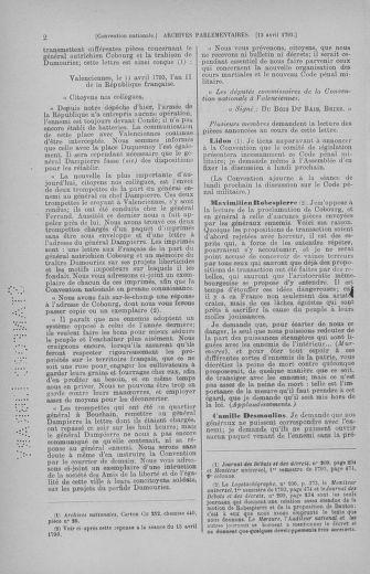 Tome 62 : Du 13 au 19 avril 1793 - page 2