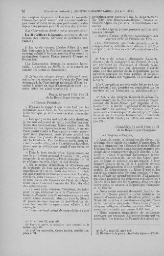 Tome 62 : Du 13 au 19 avril 1793 - page 76