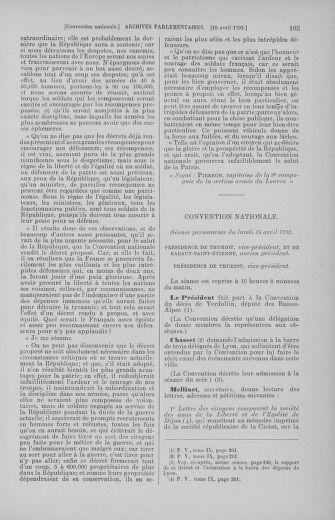 Tome 62 : Du 13 au 19 avril 1793 - page 105