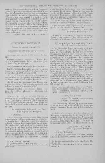 Tome 62 : Du 13 au 19 avril 1793 - page 167