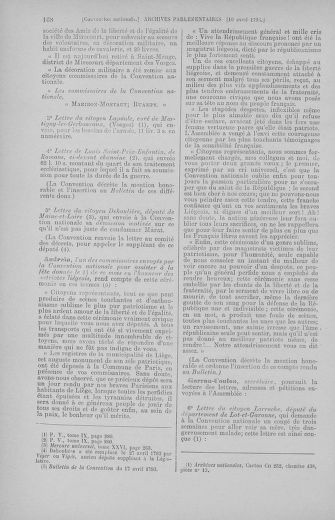 Tome 62 : Du 13 au 19 avril 1793 - page 168