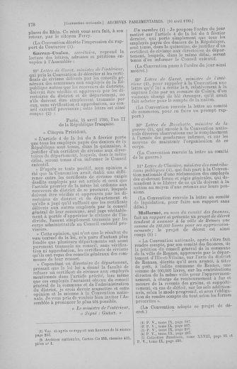Tome 62 : Du 13 au 19 avril 1793 - page 178