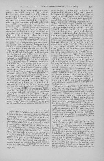 Tome 62 : Du 13 au 19 avril 1793 - page 199